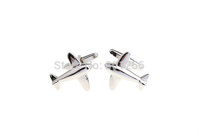 Promotion!! Boutons de manchette avion couleur argent mode conception - Bijoux fantaisie - Photo 3