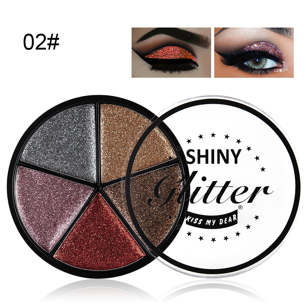 Beauty Essentials Radient 4 Color Earth Color High Pearl Eyeshadow Palette Makeup Tool Cosmetics Kit Long-lasting Multiple Styles Eye Shadow Palette Tslm2