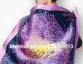 100% чистый шелк печать шарф женщины девочка большие квадрат красивая осень зима шелк шаль 88 * 88 см надувательство в 1piece-S001