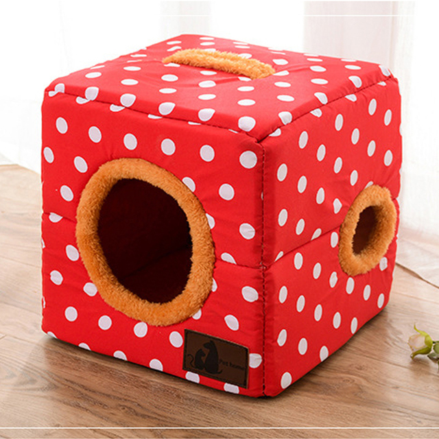 CAWAYI KENNEL Pet Home Shape Pet House Dog Bed Nest Dog Kennel For Puppy Dogs Cat Small Animals Cover D1387