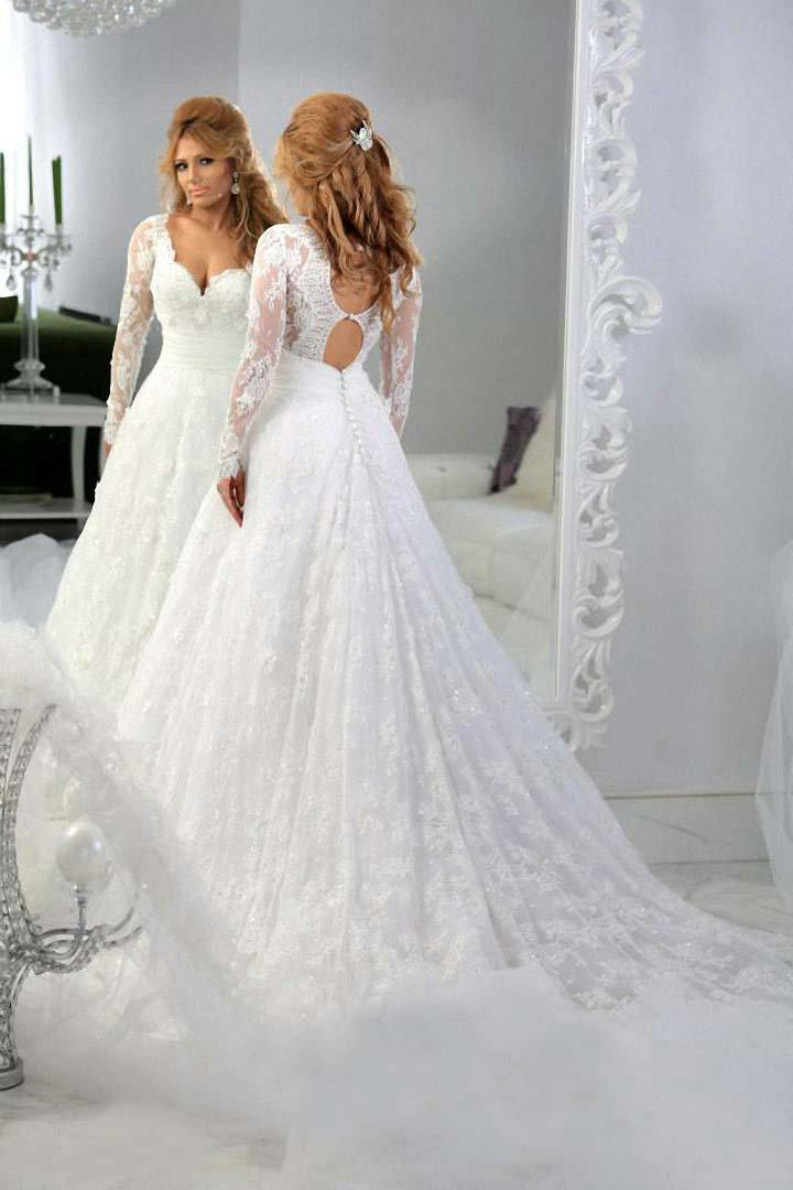 Dress up girls dresses picture more detailed picture for Lace wedding dresses with sleeves kleinfelds