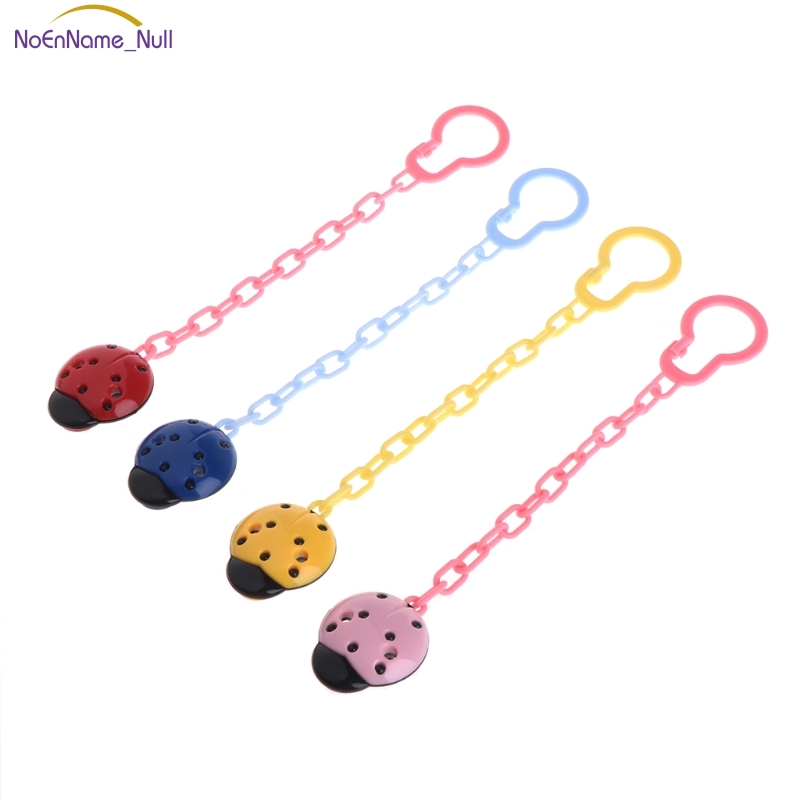 Toddler Infant Kid Ladybug Dummy Pacifier Clip Chain Holder Soother Nipple Strap