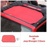 Red Sunshade for Jeep Wrangler 2 Doors Heat Insulation Net PVC 2007 2016