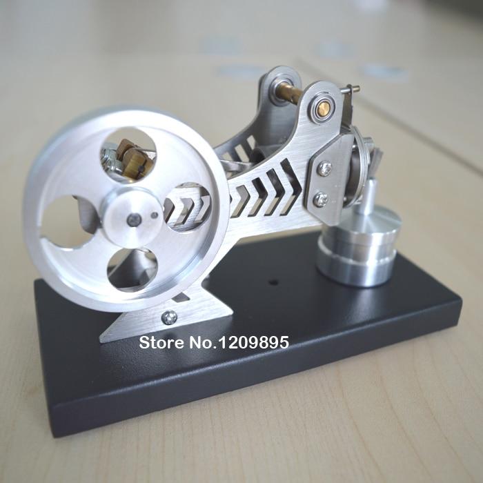 Stirlingmotormodel Klassieke vacuümmotor Zwarte wetenschap en - School en educatieve benodigdheden - Foto 5