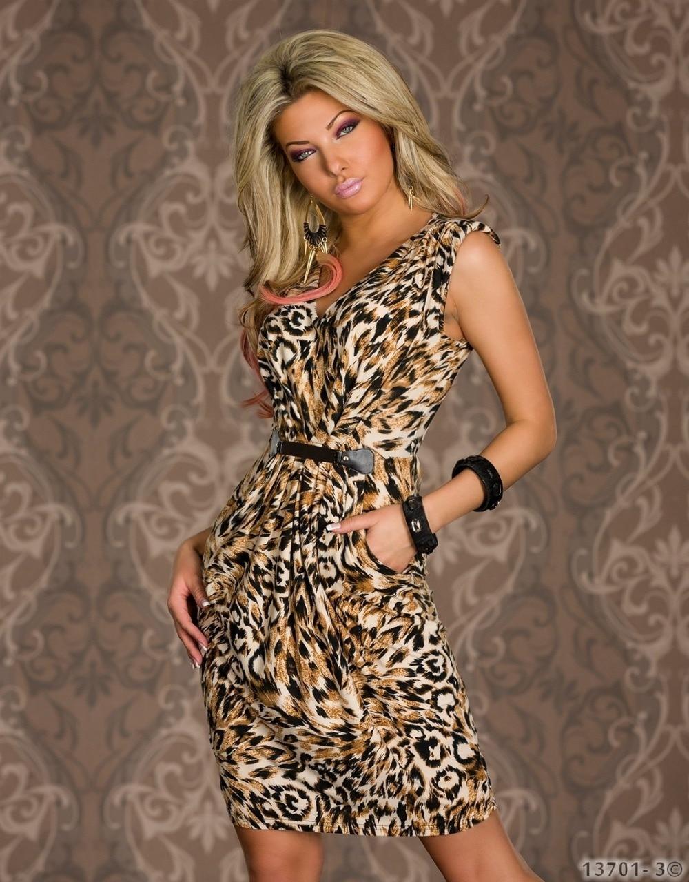 065359b2afca2a New Fashion Vestidos De Festa Women Leopard Print Sleeveless Knee-Length  Dress Vintage Summer Casual Dress Sexy Club Dress 0455