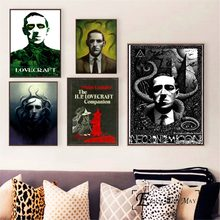Lovecraft Horrorible Portrait Posters and Prints Wall art Decorative Picture Canvas Painting For Living Room Home Decor Unframed(China)