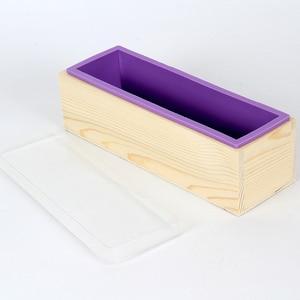 Image 5 - Rechthoekige Zeep Schimmel Siliconen Flexibele Loaf Mould Met Houten Doos Voor Zelfgemaakte Koude Proces 1200G