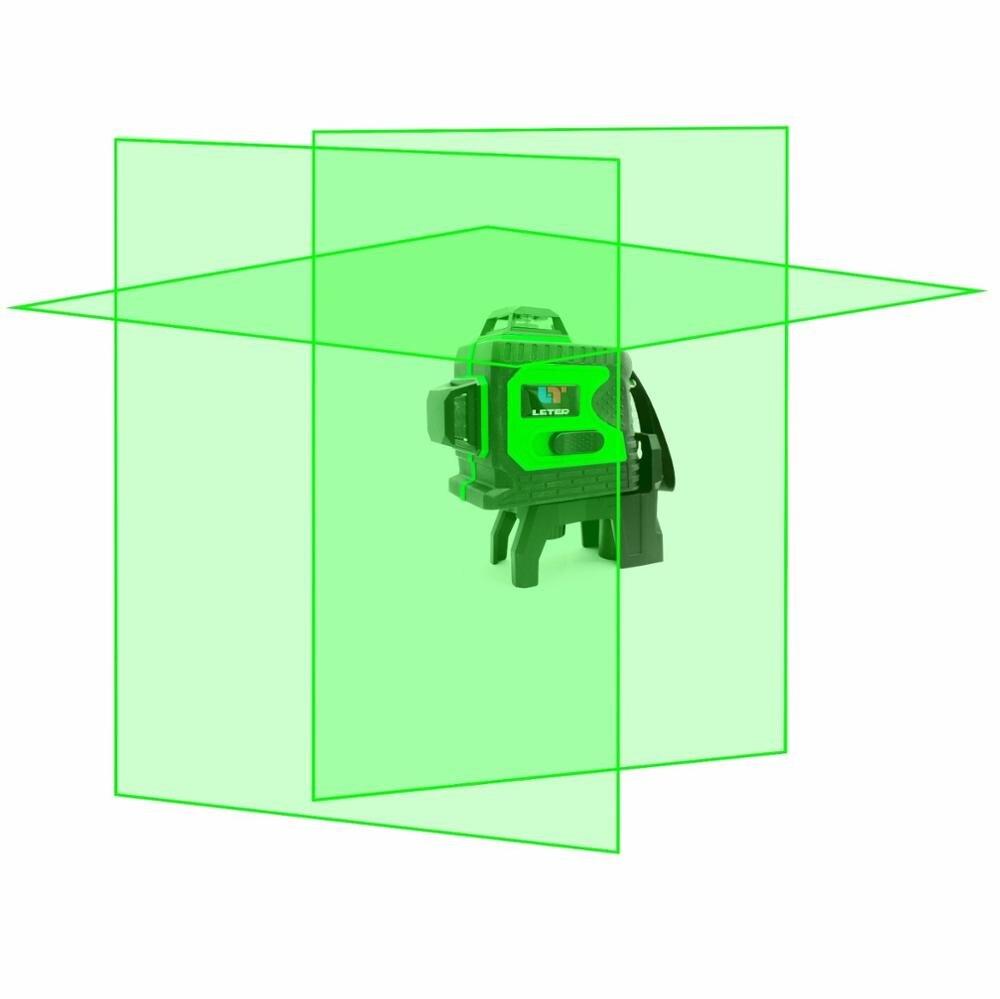 3d наливные зеленый лазерный уровень 360 градусов 12 линий Горизонтальные и вертикальные крест