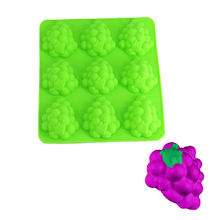 YIWUMART 3D 9 Hole Grape Silicone Cake Decorating Tools For Fordant Mold Pan Baking Chocolate Mousse Desserts Cakes Mould