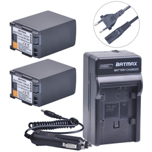 2Pcs BP-828 BP 828 Batteries + Charger Kits for Canon VIXIA GX10, XF400, XF405, HFG20, HFG30, HFG40, HFM30, HFM31, HFM32, HFM300