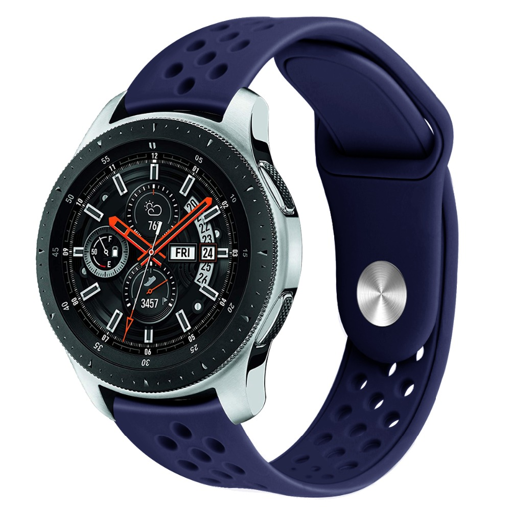 22mm Watch Band For Samsung Galaxy Watch 46mm Watch Strap For Gear S3 Classic Huawei Watch Silicone Sport Band Watch Strap 91001