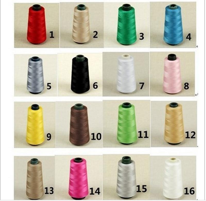Gratis verzending Overlocking naaimachine Industriële polyester draad 3000 Yards Spoelen Cones 45 kleuren kan kiezen