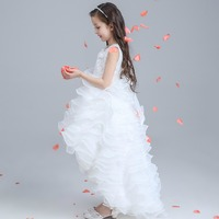 2016 High Quality White And Red Flower Girls Dresses For Party And Wedding Girls Pricess Long
