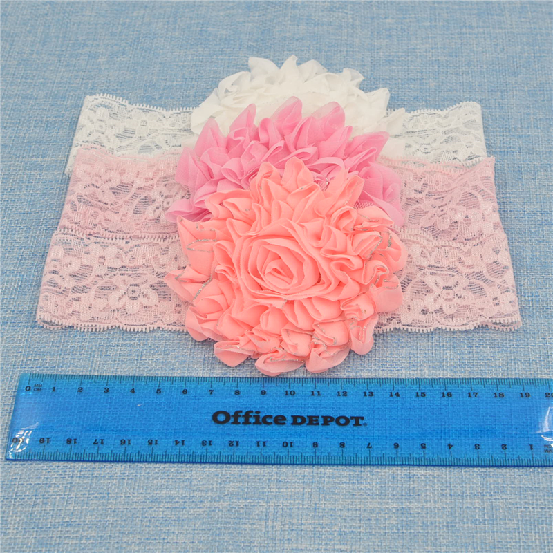 New Headwear Lace Headband Chiffon Flower Headband Hair Weave Band