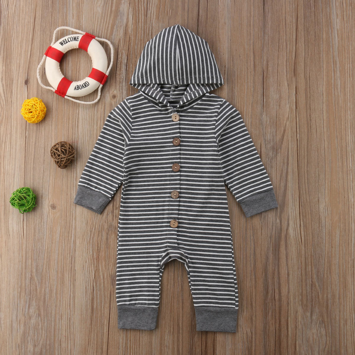 HTB1rw46BOCYBuNkHFCcq6AHtVXaq 2019 Children Spring Autumn Clothing Baby Kids Boys Girls Infant Hooded Solid Romper Jumpsuit Long Sleeve Clothes Outfits 0-24M