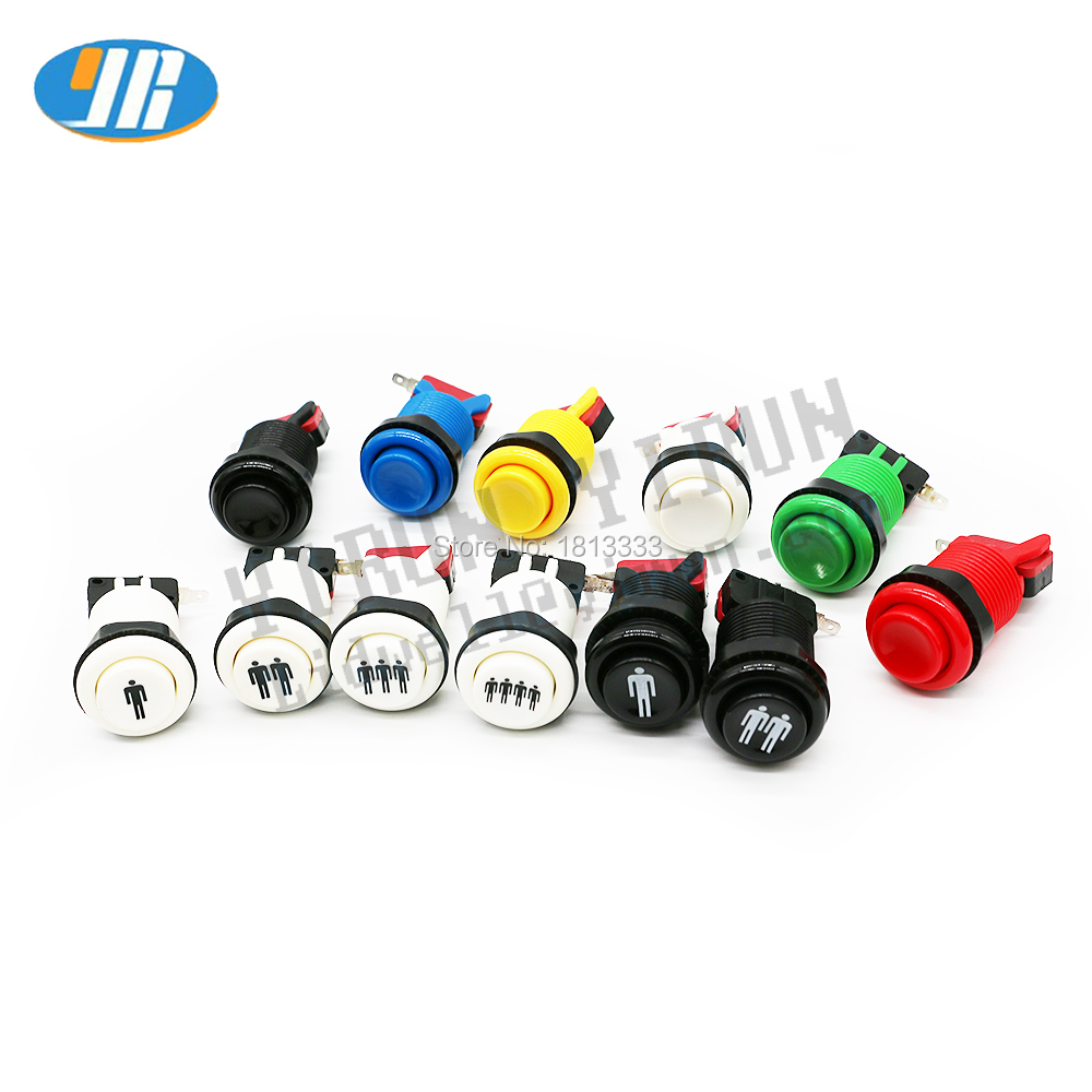 10Pcs Rose 28mm Short Push Button for Arcade Game Console Co