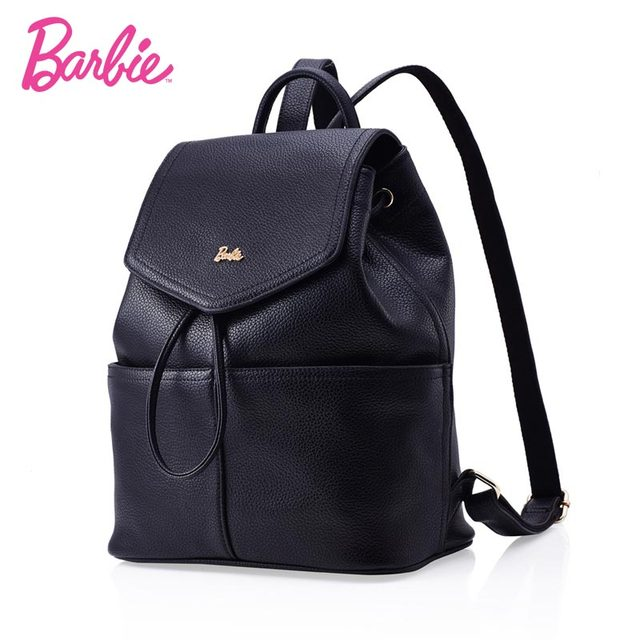 9ddee885703b 2018 BARBIE Fashion PU Leather Women Backpack School Bag Travel Bag For Teenage  Girl Shoulder Bag