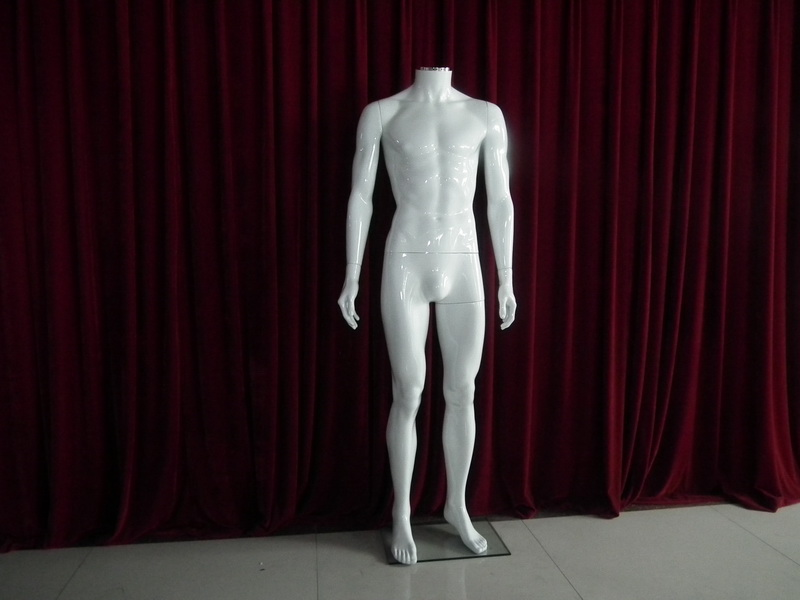 EMP-ZSSM01 High gloss white plastic headless mannequin_1