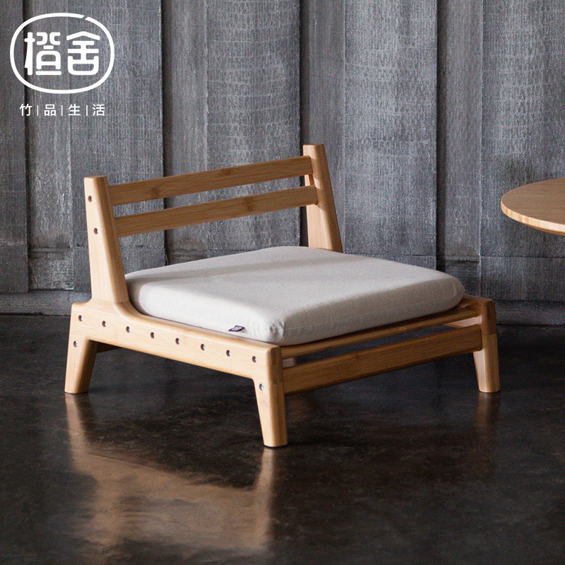 Zen 39 s bamboo chair with cushion assemble japanese tatami - Japanese living room furniture ...