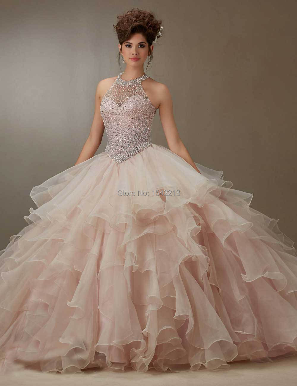 b87f767a92 Off the Shoulder Light Blue Quinceanera Dress Heavy Beaded Pearls Ball Gown  Style With Free Wrap New Arrival 2017-in Quinceanera Dresses from Weddings  ...