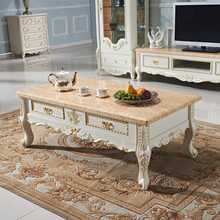 Household marble coffee table TV cabinet Continental combination teasideend