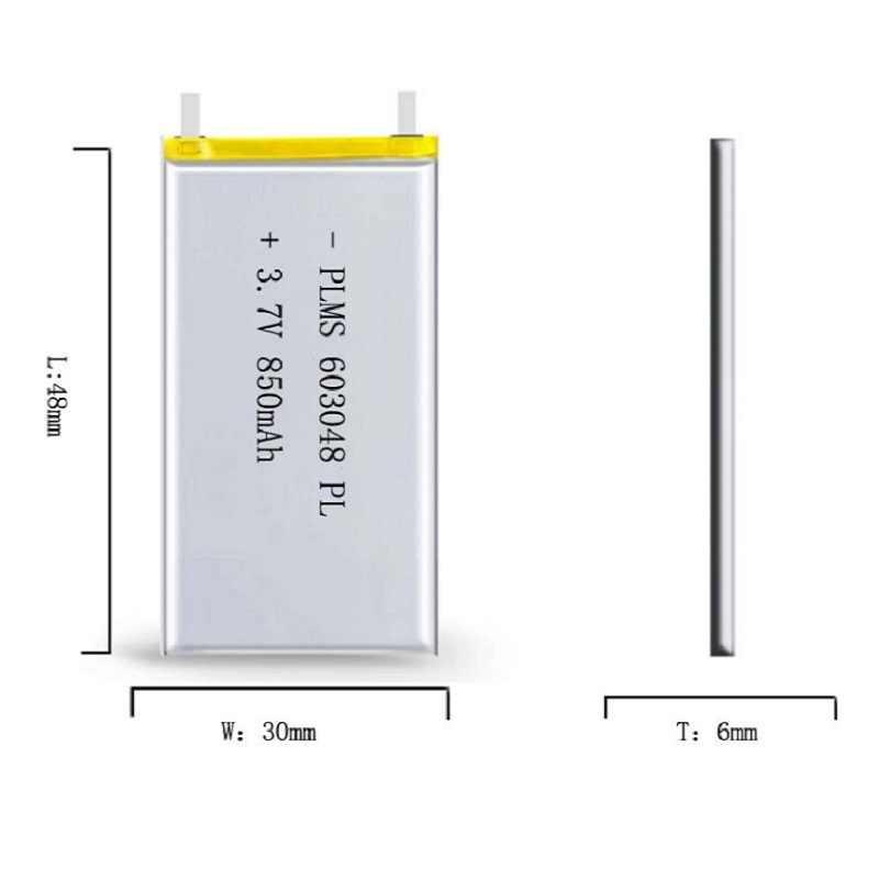 Najlepsza bateria marki 3.7V MP3 MP4 GPS 603048 603048 bateria litowo-polimerowa bezprzewodowy telefon 850MAH