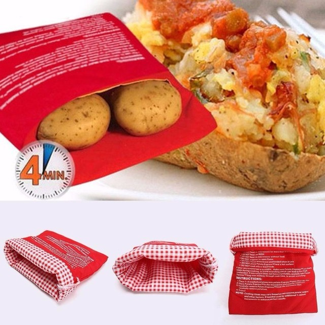 Cooker Bag Baked Potato Microwave Corns Cooking Gadget Kitchen Tools Red