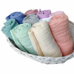 Baby Blankets Swaddle-Wrap Muslin Newborn Bedding Bath-Towels Solid Cotton for Summer