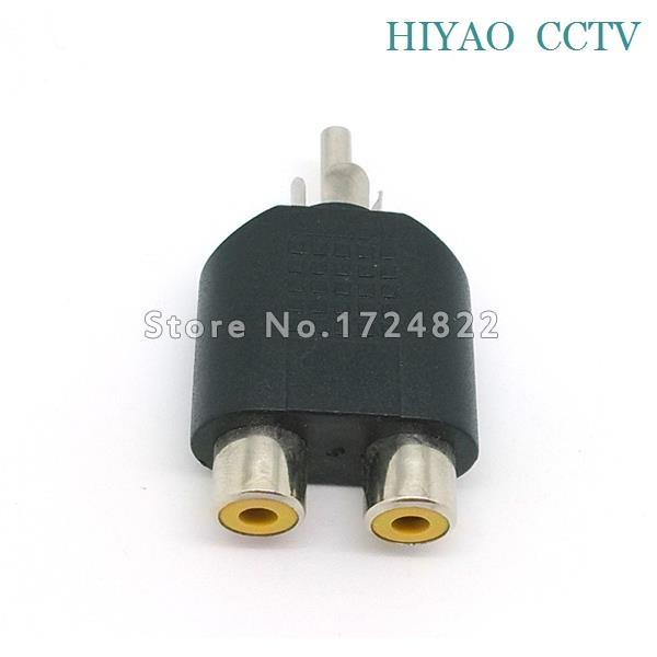 10pcs Splitter Plug Adapter RCA Connector male to RCA male Coupler for CCTV RG59 cable Security System & Video Camera