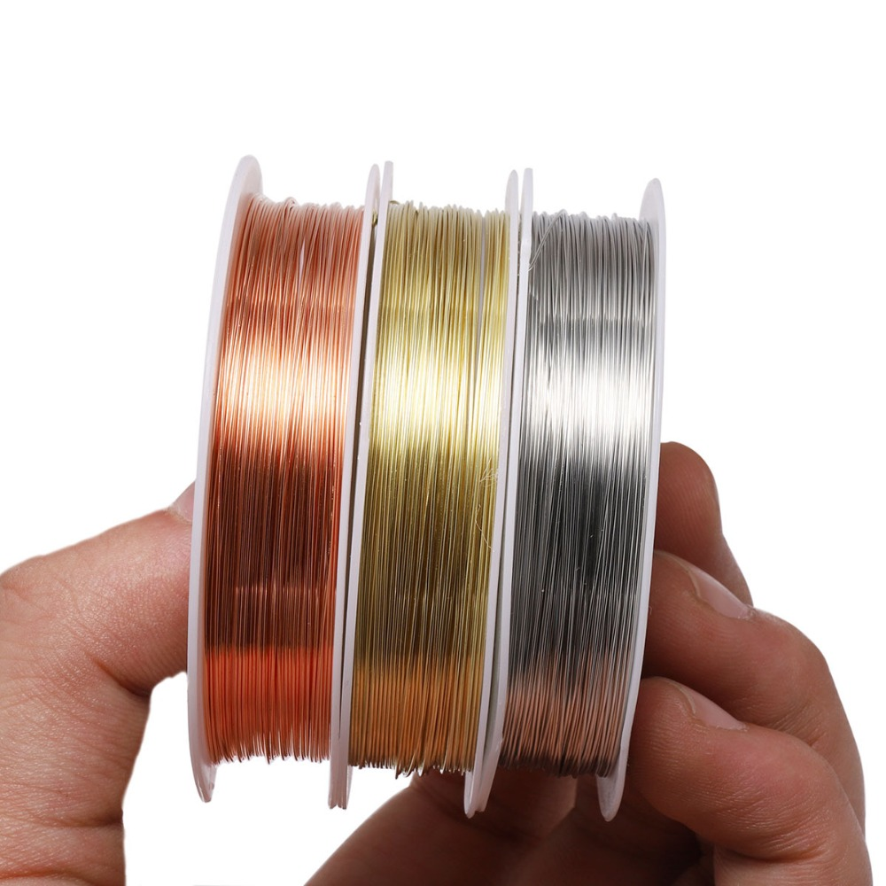 WIWI 0.2-1.0mm Brass Copper Wire Beaded Lead Traction Line Stereotype DIY For Jewelry Making Tools Craft Beading Wire Wholesale