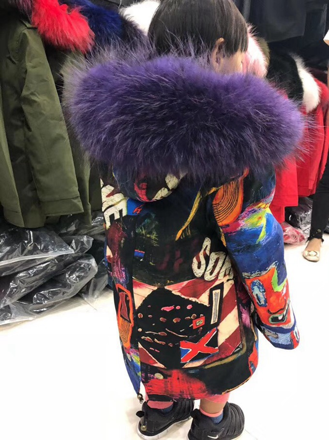 child winter real fur parkas coat (38)
