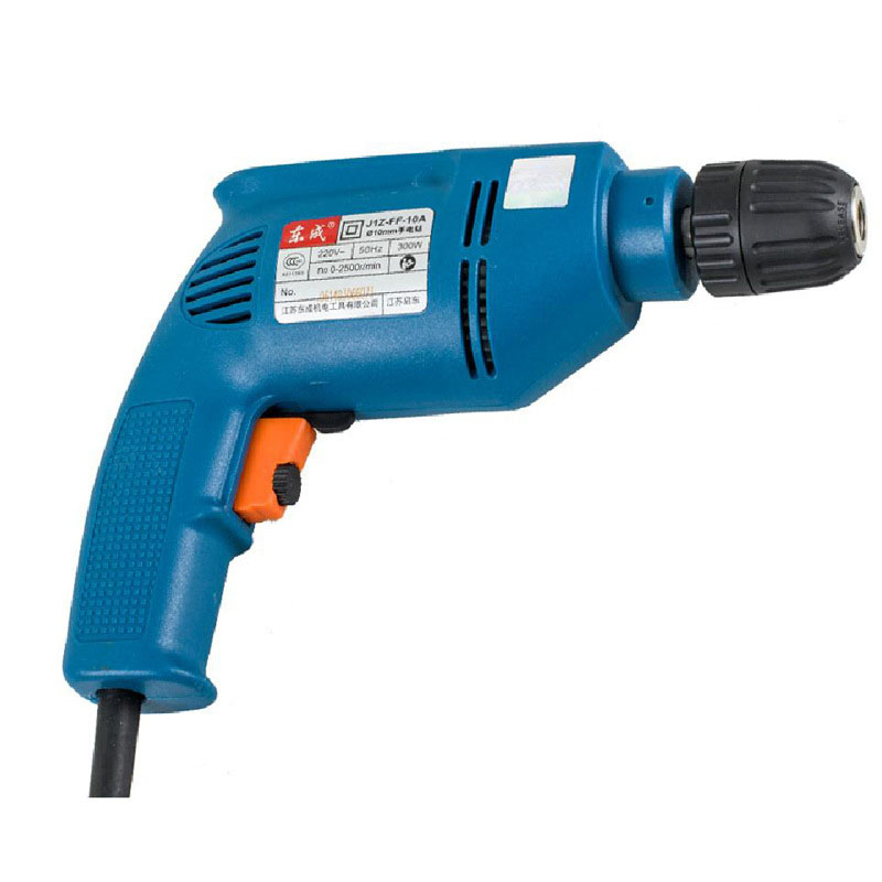 Electric Drill 10mm 220V 300W Self-Lock Hand Speed Pistol Drill Handheld Power Tools image