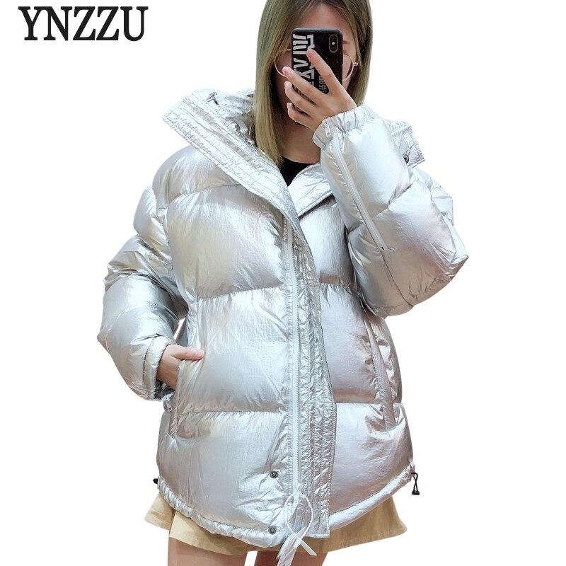 Stile coreano Casual Anatra Imbottiture Rivestimento Delle Donne di Marca di Alta Qualità 2018 di Inverno di Ispessimento Del Collare Del Basamento Caldo Allentato Oversize Cappotto AO716