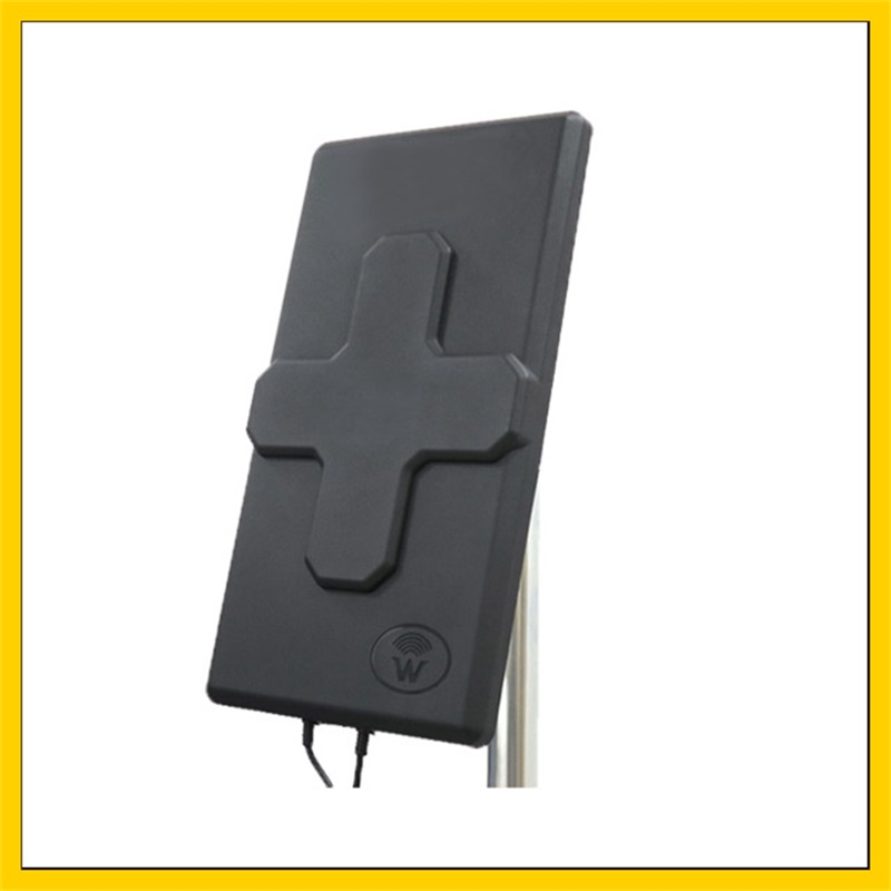 24dBi Outdoor 4G LTE MIMO AntennaLTE Dual Polarization Panel Antenna SMA Male  Connector  10M Cable For Huawei  4G Router