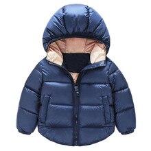 Hot Winter Boys Outerwear Solid Cotton Girl Coat Newborn Baby Snowsuit Infant Overcoat Winter-Clothing Kids Jacket BFOF