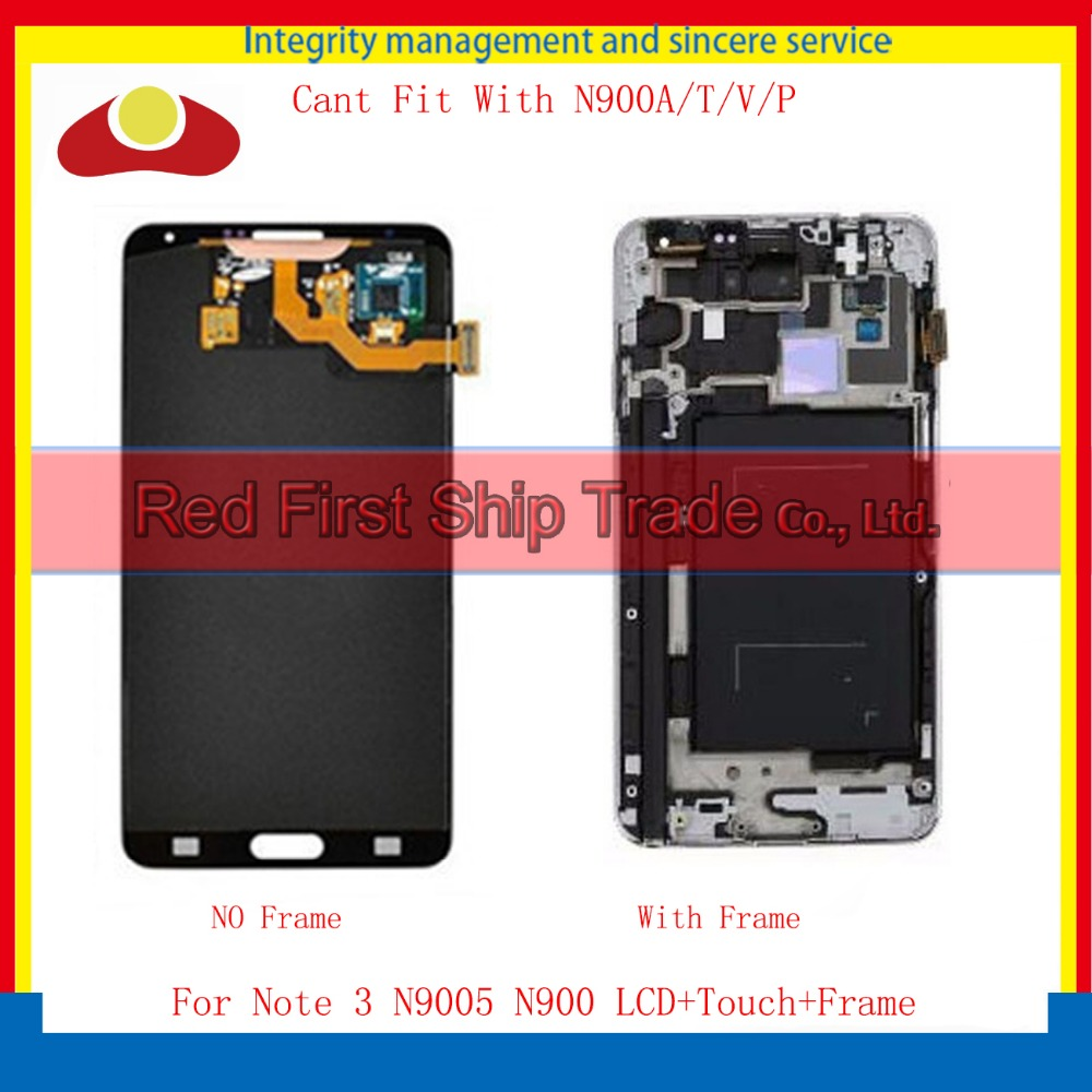 10Pcs/lot DHL For Samsung Galaxy Note 3 N900 N9005 Full Lcd Display Touch Screen Digitizer Sensor With Frame Assembly Complete 10pcs free dhl oem no spot quality 10 1 lcd display with touch screen panel digitizer assembly for samsung galaxy note n8000