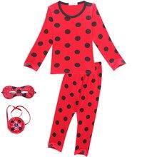 94907aa25bf Lady Bug mariquita pijamas de los niños de otoño conjunto rojo de punto ropa  conjunto ropa