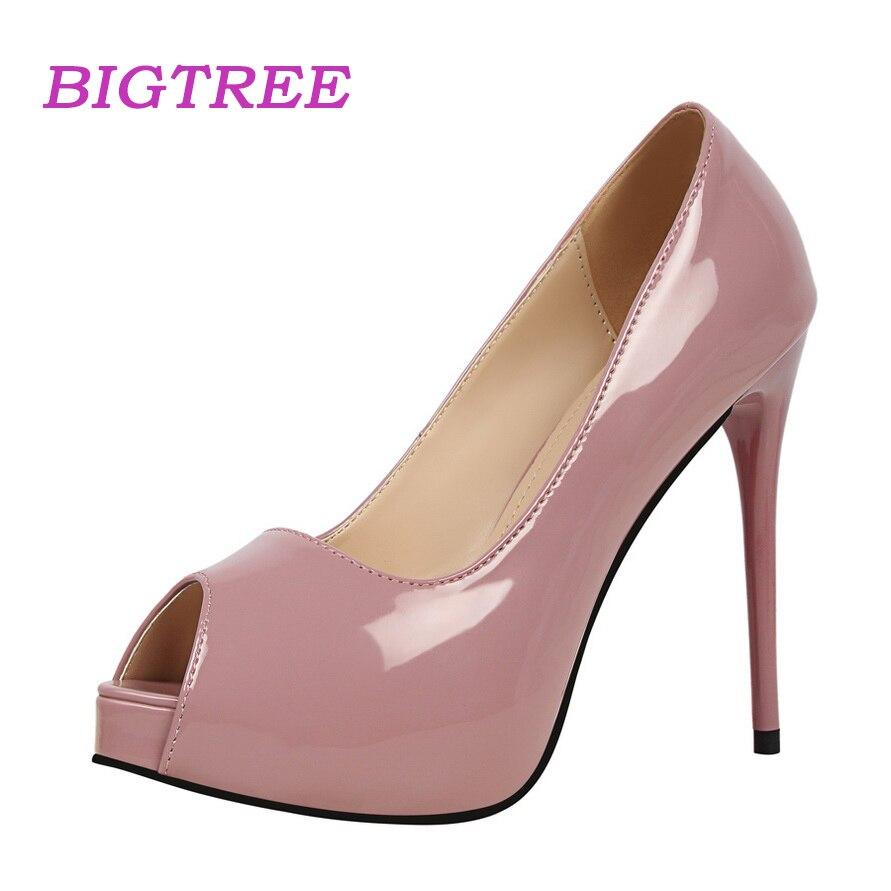 BIGTREE Women Luxury Brand Shoes Sexy Fetish High Heels Peer Toe Pumps With Platform Evening Pumps Scarpin Feminino Salto Alto basharat peer curfewed night