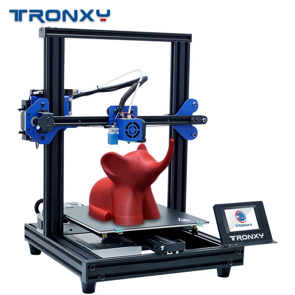 2019 plus récent Tronxy XY-2 PRO FDM imprimante 3D complet avec 8G micro sd 0.25kg PLA filament et 0.4mm buse comme cadeau