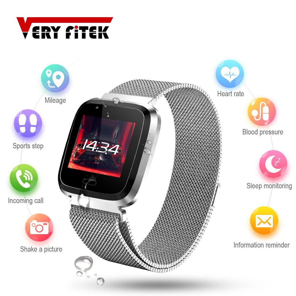 VERYFiTEK L18 Business Metall Band Smart Uhr Blutdruck Herz Rate Monitor Fitness Trakcer Männer Frauen Smartwatch Dropship