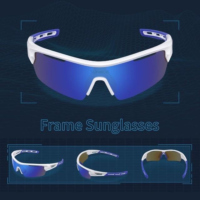65ac29a331 Torege Polarized Sports Sunglasses for Men Women Cycling Running Driving  Fishing Golf Baseball Glasses Outdoor Cycling Eyewear