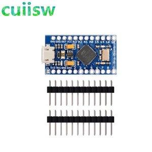 Image 2 - 5 PCS Pro Micro ATmega32U4 5 V 16 MHz Ersetzen ATmega328 Für arduino Pro Mini Mit 2 Zeile Pin Header für Leonardo Mini Usb schnittstelle