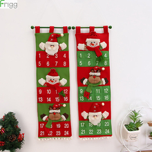 DIY Christmas Advent Calendar Christmas Decoration Fabric Christmas Festival Hanging CalendarsMerry Christmas New Year 2019 универсальная регулируемая скамья body solid powerline pfid130