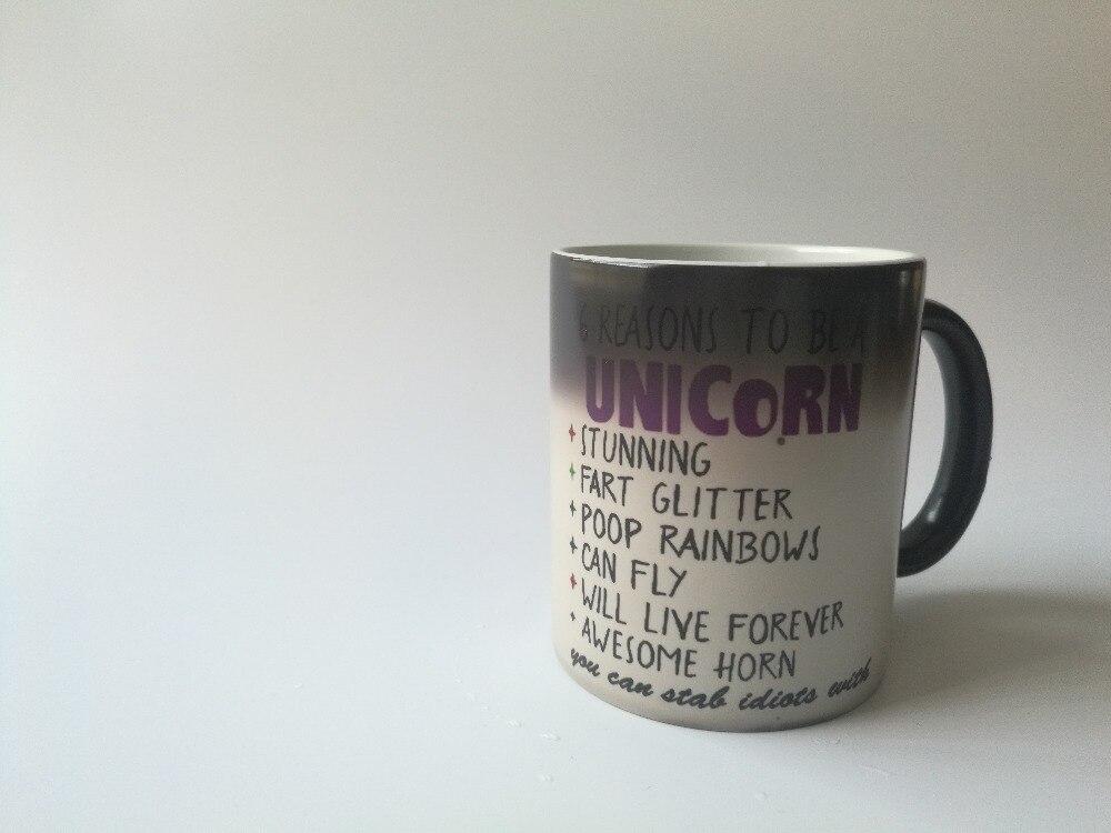 Rainbow unicorn /& Super Mario Colour Changing Mug sensibles à la chaleur tasse à café cadeau