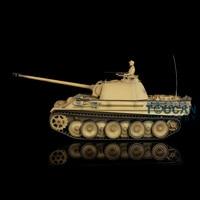 HengLong 1/16 масштаб желтый Пластик версия Пособия по немецкому языку пантера G RTR Р/У танки смога звук 3879