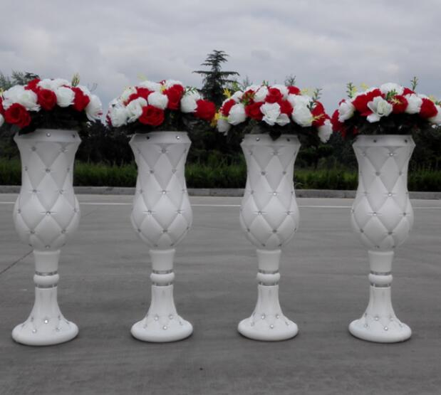 Wedding Rome Pillar Road Flower Pot Plastic Introduction New Style