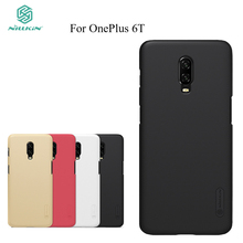 For OnePlus 6T Case NILLKIN Super Frosted Shield Case For OnePlus 6T Cases Back Cover стоимость