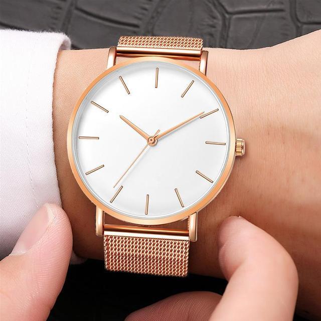 2020 Montre Femme Modern Women Watch Fashion Black Quartz Wristwatch Women Mesh Band Simple Watches Luxury Ladies Reloj Mujer 2