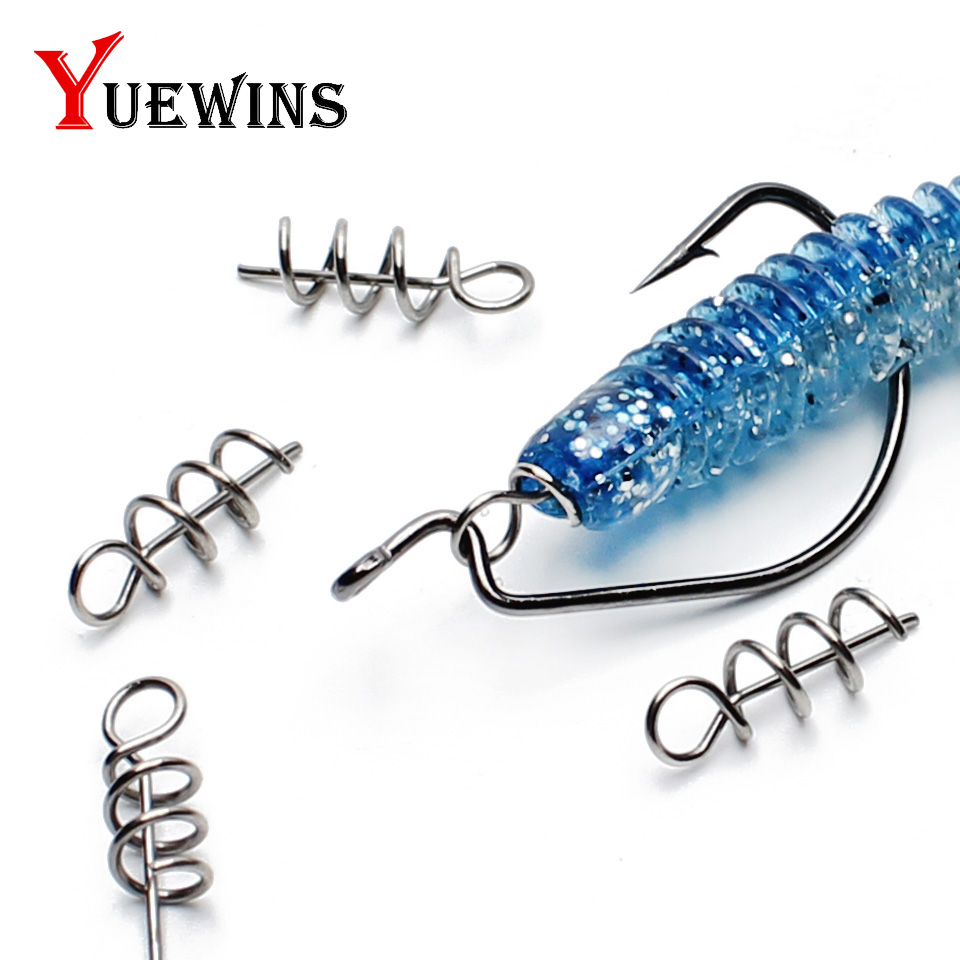 20-50pcs/lot Fishing Hook Centering Pins Spiralbait Fixed Latch Needle Spring Crank Lock For Soft Lure Fishing Accessorie TP1082(China)