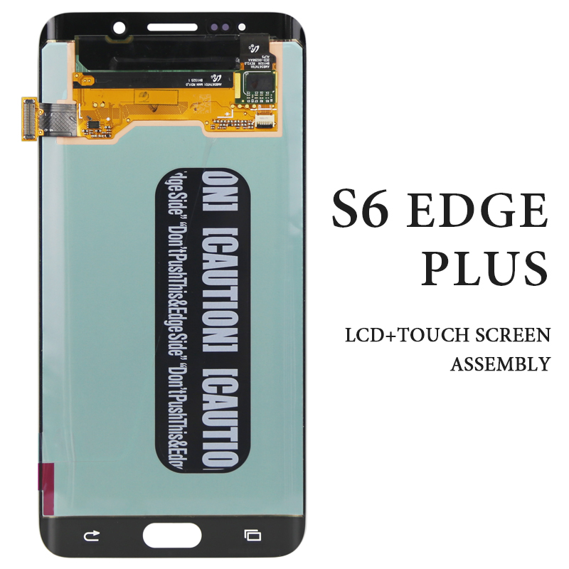 For Samsung Galaxy S6 edge plus LCD No Dead Pixel White Blue Gray Gold Tested <font><b>AMOLED</b></font> Touch Assembly G928F Mobile <font><b>Phone</b></font> LCD